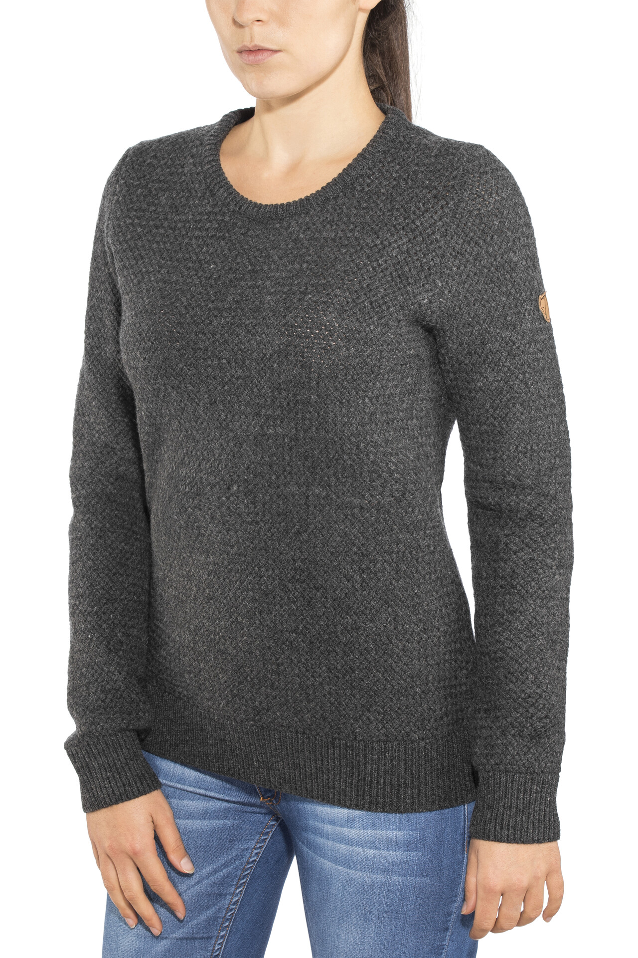 Icebreaker Waypoint Rundhals Sweater Damen toast heather
